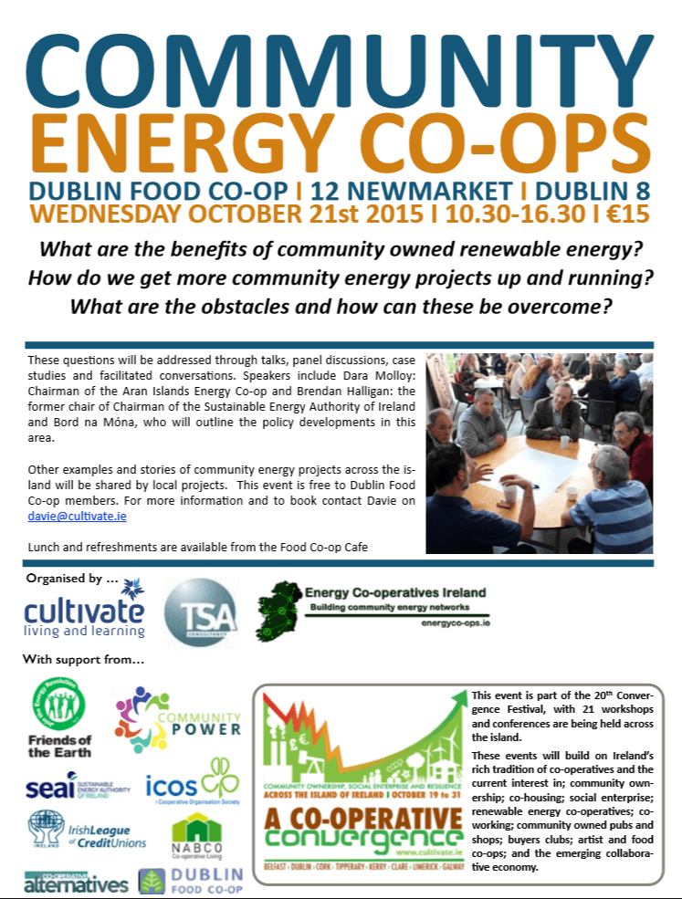 Community Energy Co-operatives Event